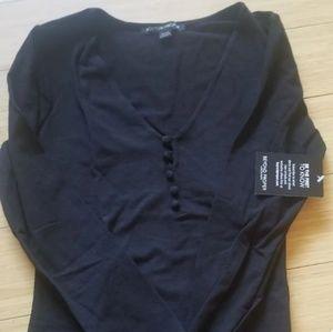 New black boston proper long sleeve sexy blouse.